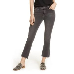 Free People Ankle Jeans Gray High Waist Straight